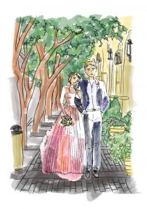 custom couple sketch