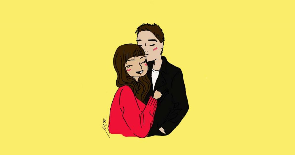 couple-drawing-brown-hair-girl-black-hair-guy-hugging-cinmu