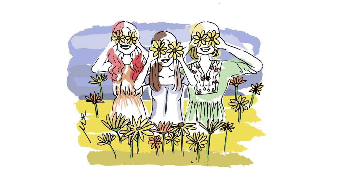 girls-in-sunflower-fields-drawing-cinmu-illustration