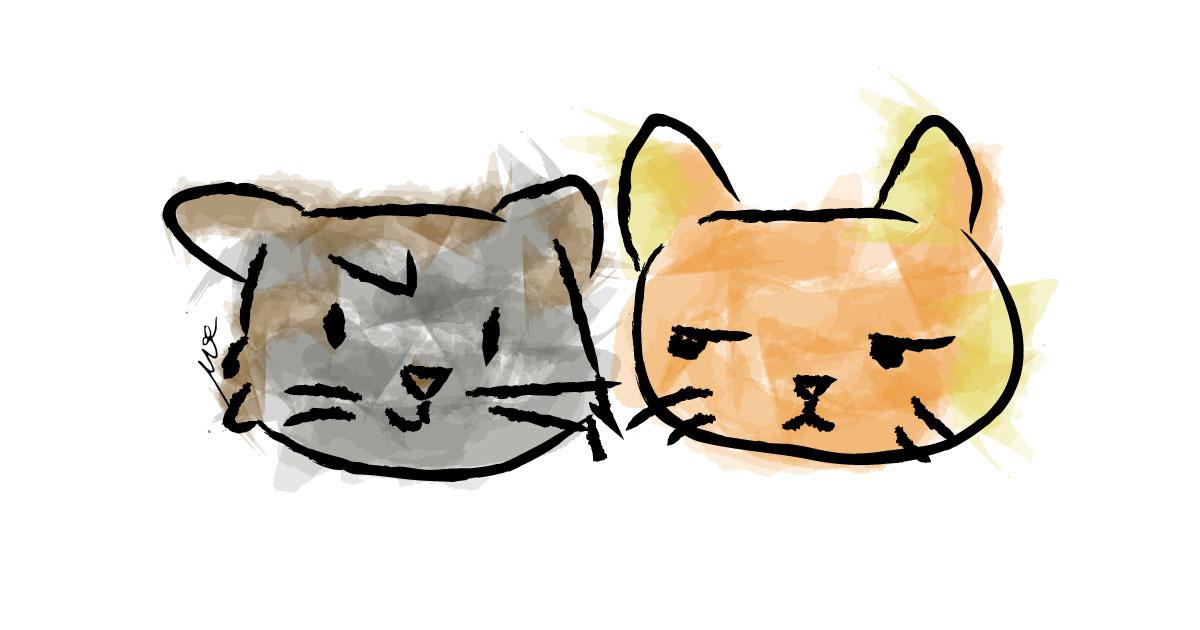 cats-digital-art-watercolor-cinmu