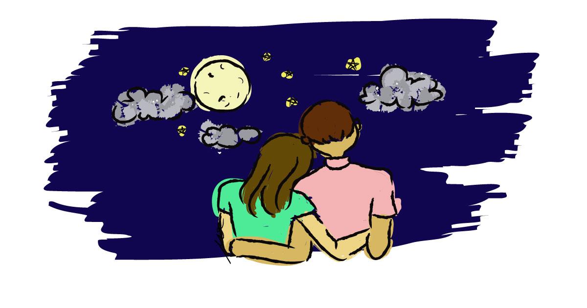 couple-watching-moonlight-digital-art