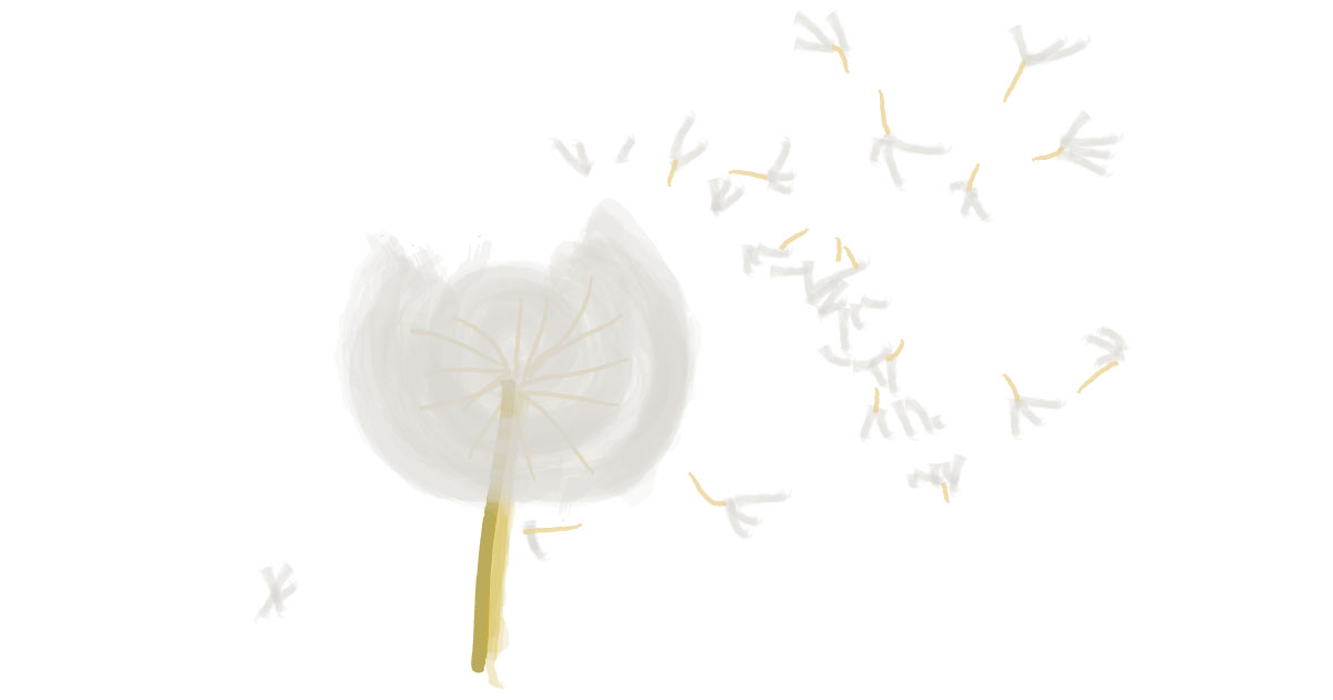 dandelion-flower-digital-art-cinmu