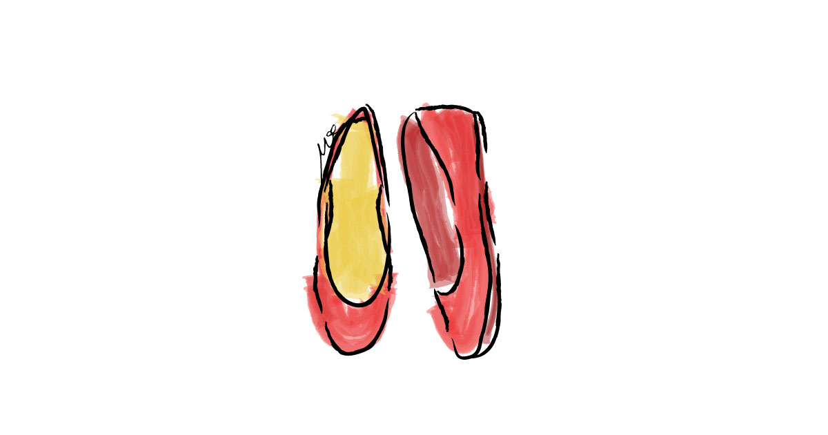 flat-shoes-water-color-digital