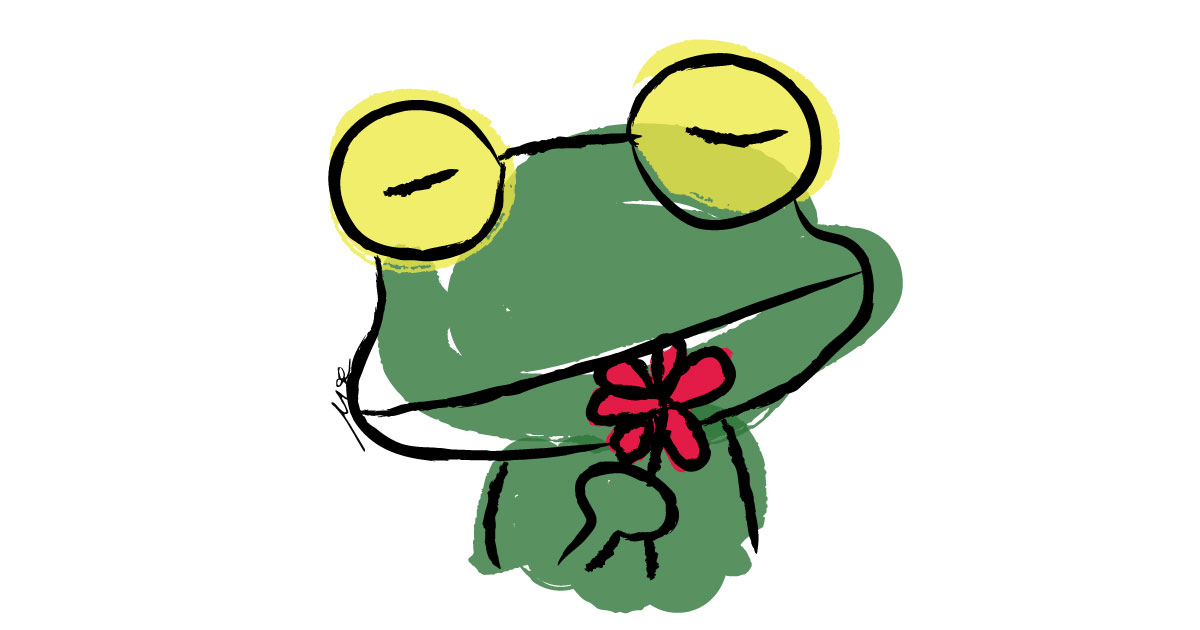 frog-flower-digital-watercolor