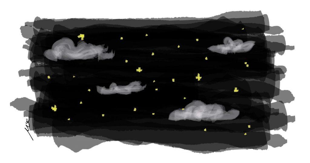 night-stars-challenge-drawing-watercoor-digitl-art-cinmu