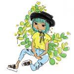 girl-sit-fashion-digital-drawing-cinmu