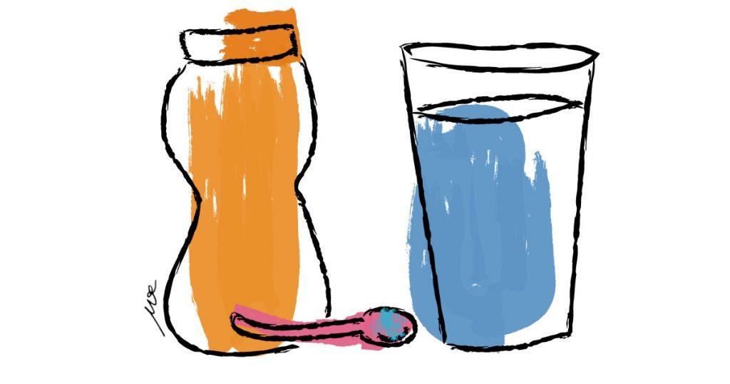 drinkng salt water illustration