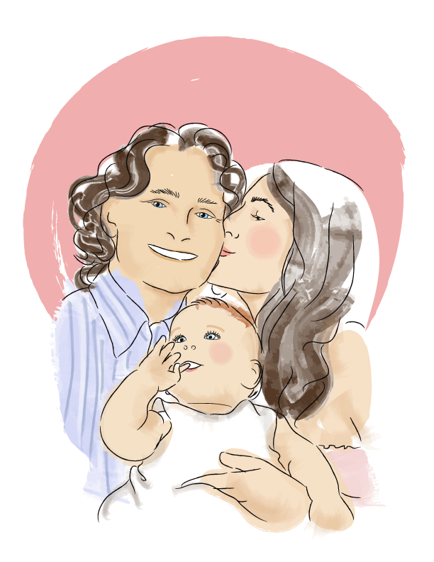 family drawing transparent background